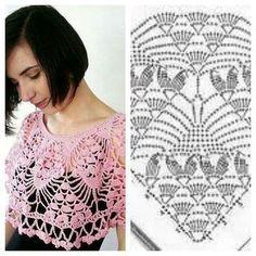 Tina's handicraft : 62 designs & patterns collars – SkillOfKing. Poncho Au Crochet, Crochet Poncho Patterns, Crochet Shawls And Wraps, Crochet Collar, Chunky Crochet, Freeform Crochet, Crochet Blouse, Crochet Chart, Crochet Lace