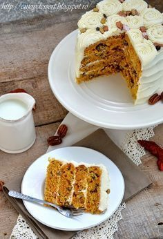 Carrot Cake with Cream Cheese Frosting Bulgarian Recipes, Delicious Deserts, Cake With Cream Cheese, Carrot Cake, Beautiful Cakes, Cake Cookies, Yummy Cakes, No Bake Cake, Fudge