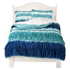 Turquoise & Blue Tie-Dye Comforter & Shams
