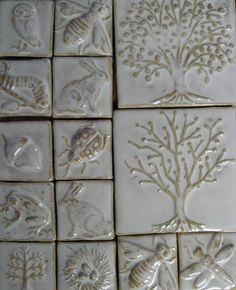 Love, Love, Love these #handmade #tiles. Perfect for fireplace surround, in buckwheat glaze.