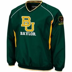 #Baylor Bears Hardball II Pullover V-Neck Jacket - Green