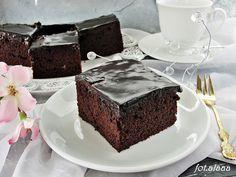 Ala piecze i gotuje: Ciasto czekoladowe z polewą