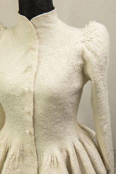 """Купить Авторский жакет """"Версаль"""" - свадебный жакет, свадебная шубка, свадебный, теплый, белый, шерстяной"""
