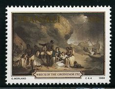 Stamp: African Hospitality, by G. Shipwreck, Homeland, Hospitality, South Africa, Around The Worlds, African, Painting, Stamps, Art