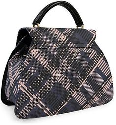 Vivienne Westwood 6266 Techno Tartan Handbag in Blue