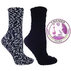 2 Pair Pack Argan and Lavender Infuse… Slipper Socks, Slippers, Long Slip, Patterned Socks, Hosiery, Lavender, Packing, Pairs, Black Socks