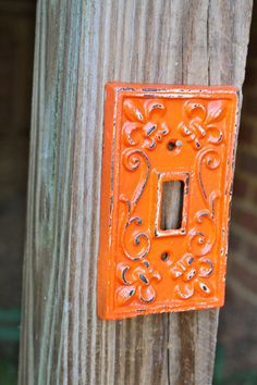 Orange Decorative Light Switch Plate/ Single by AquaXpressions, $11.99