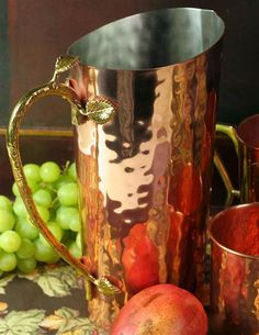 HAMMERED COPPER PITCHER @ Victorian Trading Co