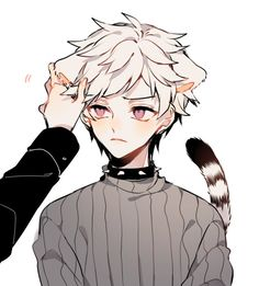✂️🔪レイニー💜💛☔ (@AkatYuz) / Twitter Anime Cat Boy, Gato Anime, Neko Boy, Anime Neko, Cute Anime Boy, Kawaii Anime, Anime Guys, Stray Dogs Anime, Bongou Stray Dogs