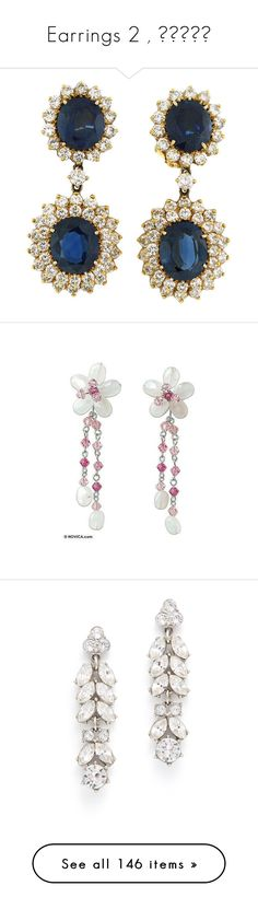 """Earrings 2 , أقراط"" by isror ❤ liked on Polyvore featuring jewelry, earrings, accessories, blue, brincos, sapphire earrings, gold clip earrings, yellow gold sapphire earrings, blue sapphire earrings and clip on earrings"