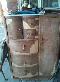 furniture restoration don t be afraid of removing veneer, painted furniture, repurposing upcycling, woodworking projects Furniture Repair, Paint Furniture, Furniture Projects, Furniture Making, Furniture Makeover, Furniture Stores, Furniture Movers, Furniture Refinishing, Furniture Design