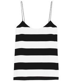 The New Look: Effortless Street Style - Tibi Stripe Cami #ShopBAZAAR