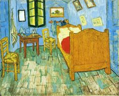 Vincent's Bedroom in Arles, 1889, oil on canvas, 73 x 92 cm.  The Art Institute of Chicago, USA. Post-Impressionism, Vincent van Gogh (1853-1890).