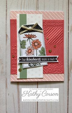 Scrapbook Cards, Scrapbooking, Heart Cards, Close To My Heart, Flower Cards, Homemade Cards, Paper Crafting, Your Cards, Making Ideas