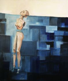 Before I move off. Painting blue. #painting #blue #woman #depression