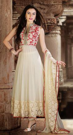 Glamorous Off White #Salwar #Kameez