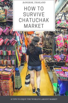 How To Survive Chatuchak Market in Bangkok Chatuchak Market Travel Guide - How to survive the world's largest market. How to get around,the zones, and 13 top tips to make the most of this vast market in Bangkok, Thailand. Bangkok Shopping, Bangkok Travel, Asia Travel, Travel Plane, Bangkok Market, Bangkok Itinerary, Laos Travel, European Travel, Koh Phangan