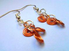Copper Wire Earrings // Twisted Wire // Silver by BaublesAndBabies, $7.00