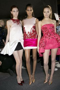 ANDREA JANKE Finest Accessories: Backstage at Giambattista Valli Spring 2014 Couture #GiambattistaValli #HauteCouture