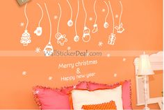 Christmas Gift Wall Sticker Cheap Christmas Gifts, Merry Christmas And Happy New Year, Xmas Gifts, Wall Stickers, Wall Decals, Merry Happy, Xmas Presents, Tapestry, Holiday