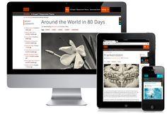 Drupal Gratis, Desktop, Tablet and phone Web Design Trends, Web Design Inspiration, Best Free Wordpress Themes, Custom Website Design, Around The World In 80 Days, Portfolio Web Design, Drupal, Flat Design