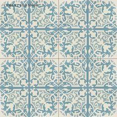 Home & Decor Bathroom Floor Tiles, Tile Floor, Kitchen Tile, Master Bath Tile, Patchwork Tiles, Stenciled Floor, Unique Flooring, Dream Bath, Encaustic Tile