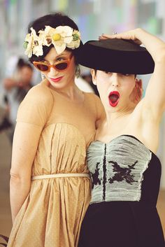 Sarah Sophie Flicker and Michelle Harper at Preen by rachel.photo, via Flickr