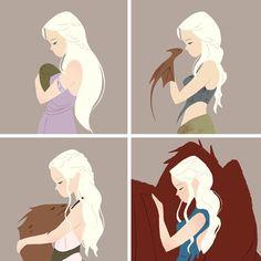 Daenerys and Drogon