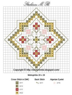 Hardanger Embroidery five free Small Cross Stitch, Cross Stitch Borders, Cross Stitch Flowers, Cross Stitch Charts, Cross Stitch Designs, Cross Stitching, Cross Stitch Patterns, Hardanger Embroidery, Cross Stitch Embroidery