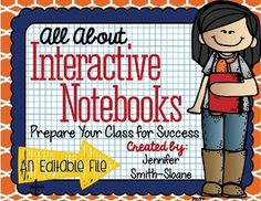 FREEBIE All About Interactive Notebooks Editable Expectation Guide