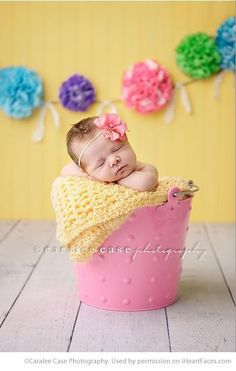 Easter Photo Session Ideas - Newborn Portrait Session by Caralee Case Photography - Featured on iHeartFaces.com #EasterPictures