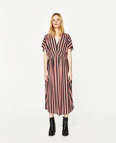 STRIPED MIDI DRESS-DRESSES-WOMAN   ZARA United States