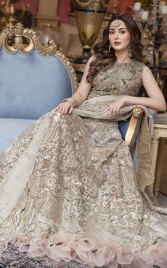 Pakistani Engagement Dresses, Indian Wedding Gowns, Pakistani Wedding Outfits, Latest Bridal Dresses, Asian Bridal Dresses, Wedding Dresses For Girls, Pakistani Bridal Lehenga, Pakistani Dresses, Walima Dress