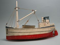 HO (1/87) Scale 68' Steam Freighter Full Hull
