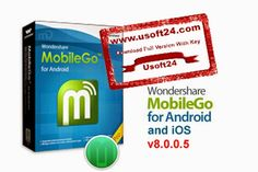 Wondershare MobileGo (For Android-iOS) 8.0.0.5 Final + Patch 2015 - Wondershare MobileGo is a very popular and useful application for easily and quickly manage your android and iOS device. In just one click you can able to back up and restore your android device. With this tool android user can also do install apps, transfer music, video, photos, contacts, SMS and document files to and from computer, send SMS from computer, and more. #Wondershare_MobileGo