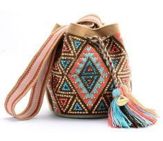 Wayuu Bags By Mishky-Pink Handmade in Columbia, these beautiful woven wayuu-or mochila bags will take you anywhere. Boho-chic While supporting a great cause with Mishky and their dedication to supporting the indigenous trades Mochila Crochet, Tapestry Crochet Patterns, Ethnic Bag, Tapestry Bag, Boho Bags, Crochet Purses, Knitted Bags, Bead Crochet, Purses And Bags