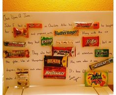 Candy anniversary card cool craft ideas