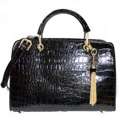 Petra Exotic Structured Satchel | Discount Handbags & Purses | Handbag Heaven #handbagheaven