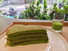 I thought this red bean matcha crepe is better than lady m!!!not sweet but a bit bitter n freeze duck ho!gor口感正