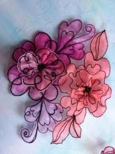 Kathleen's Organza Extrav-Organza: Organza flowers in easy free motion stitching