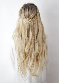 Hairstyles Braids With Hair Down French - half-up boho braids ┊ hair tutorial – kassinka Easy Hairstyles For Long Hair, Braided Hairstyles Tutorials, Messy Hairstyles, Pretty Hairstyles, Wedding Hairstyles, Hairstyle Ideas, Long Haircuts, Black Hairstyles, Summer Hairstyles