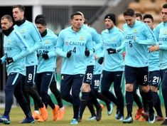 We all puff-out our chest with collective pride as Bert van Marwijk is impressed by the #Socceroos 'drive'. Here they are having a run in Oslo. 23.03.18