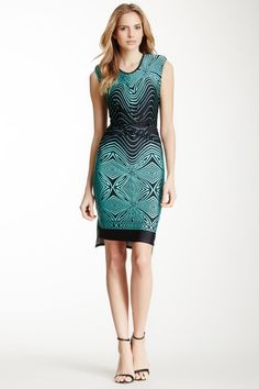Printed Twist Knot Dress by a.maglia on @HauteLook