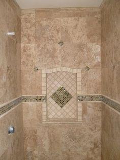 Travertine Tile Shower Travertine Shower Bathroom Remodel