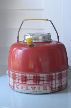KILTIE Red Plaid ~ Insulated Picnic JUG by Oldgreenlion on Etsy