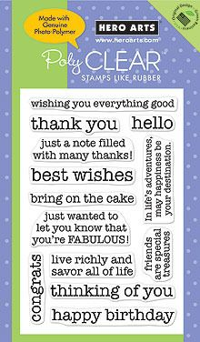 Essential Messages - Clear Rubber Stamps, $13