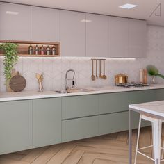 The most popular colors of 2020 in the interior. The most popular colors of 2020 in the interior. The most popular colors of 2020 in the interior This Kitchen Room Design, Kitchen Dinning, Modern Kitchen Design, Home Decor Kitchen, Interior Design Kitchen, Kitchen Furniture, Home Kitchens, Küchen Design, House Design