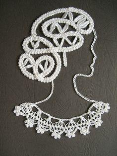 I could crochet that. Freeform Crochet, Crochet Art, Irish Crochet, Crochet Motif, Crochet Doilies, Tatting Patterns, Lace Patterns, Crochet Patterns, Bruges Lace