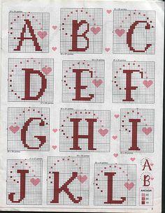 Heart Alphabet #1/3
