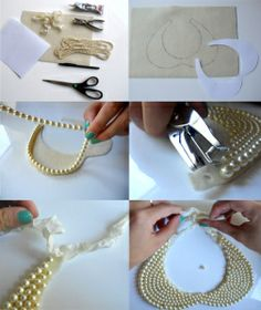 DIY reverse collar necklace